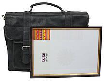 Портфель из натуральной кожи A-art TSM1103-3 серый, фото 3
