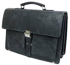 Чоловічий діловий портфель з натуральної шкіри A-art TSM1401-1 сірий