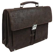 Чоловічий шкіряний діловий портфель A-art TSM1401-2 коричневий