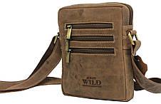 Небольшая кожаная сумка Always Wild 250MH коричневая, фото 2