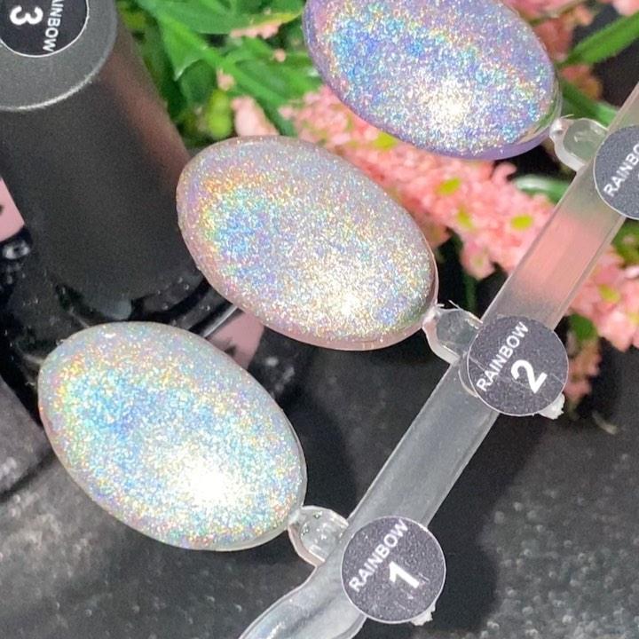 Галографический Гель-лак Saga Rainbow Призма №2 (сріблястий, з микроблеском) 8 мл - Гель Лак Призма