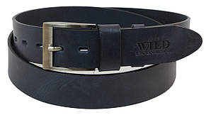 Кожаный ремень для джинс ALWAYS WILD PPW-29 ДхШ: 132х4 см синий, фото 2