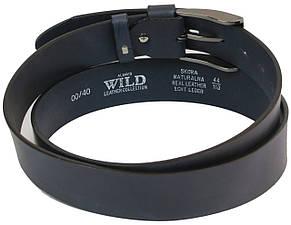 Кожаный ремень для джинс ALWAYS WILD PPW-29 ДхШ: 132х4 см синий, фото 3