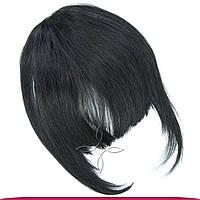Накладная челка из натуральных волос №01