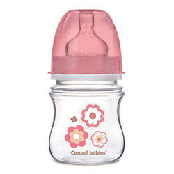 Антиколиковая бутылочка Canpol babies с широким отверстием EasyStart розовая 120 мл 35 216pin, КОД: 2425395