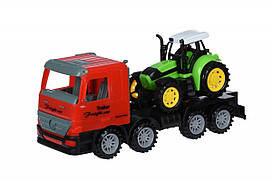 Машинка инерционная Same Toy Super Combination Тягач красный с трактором 98-84Ut-1, КОД: 2431203