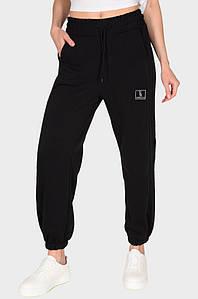 Спортивные штаны женские черные Fashion 124345P
