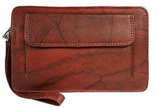 Чоловіча шкіряна барсетка, клатч Always Wild 1265BS червона, фото 3