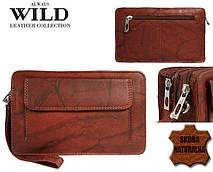 Чоловіча шкіряна барсетка, клатч Always Wild 1265BS червона, фото 2