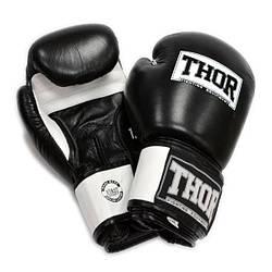 Перчатки боксерские THOR SPARRING 16oz /PU /черно-белые