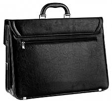 Великий чоловічий портфель з еко шкіри AMO SST01 чорний, фото 3