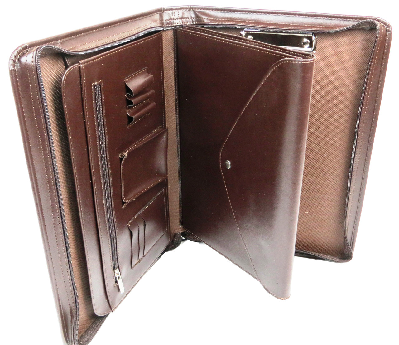 Папка для бумаг формата А4 из эко кожи AMO коричневая