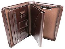 Папка для бумаг формата А4 из эко кожи AMO коричневая, фото 2