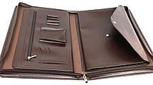 Папка для бумаг формата А4 из эко кожи AMO коричневая, фото 3