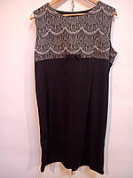 Красивое черное платье з серым принтом 48 евро (Ликвидация склада, распродажа) Батал