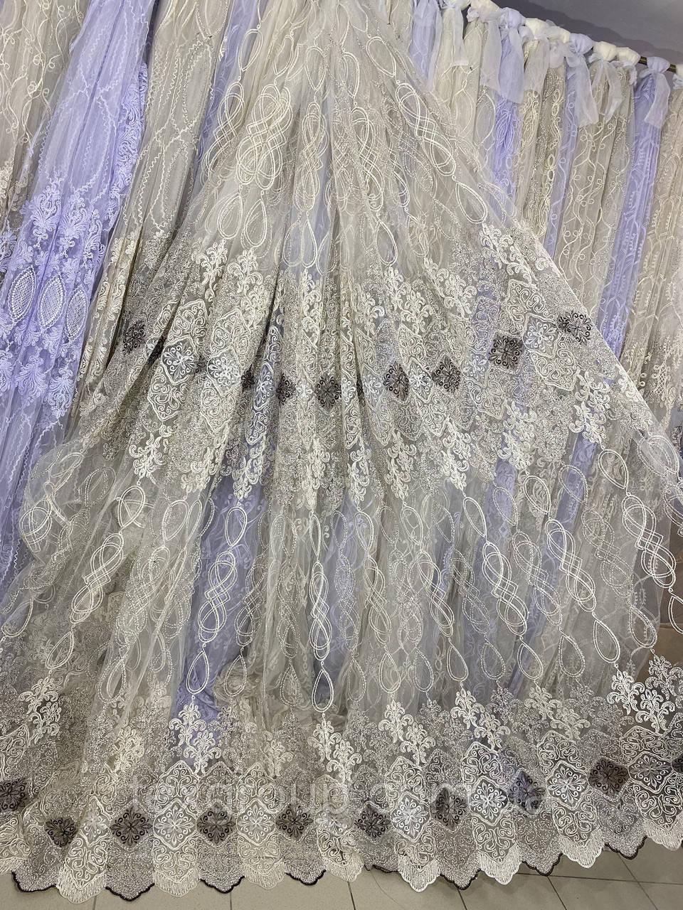Якісний фатиновый тюль з кордової люрексовою ниткою 116368