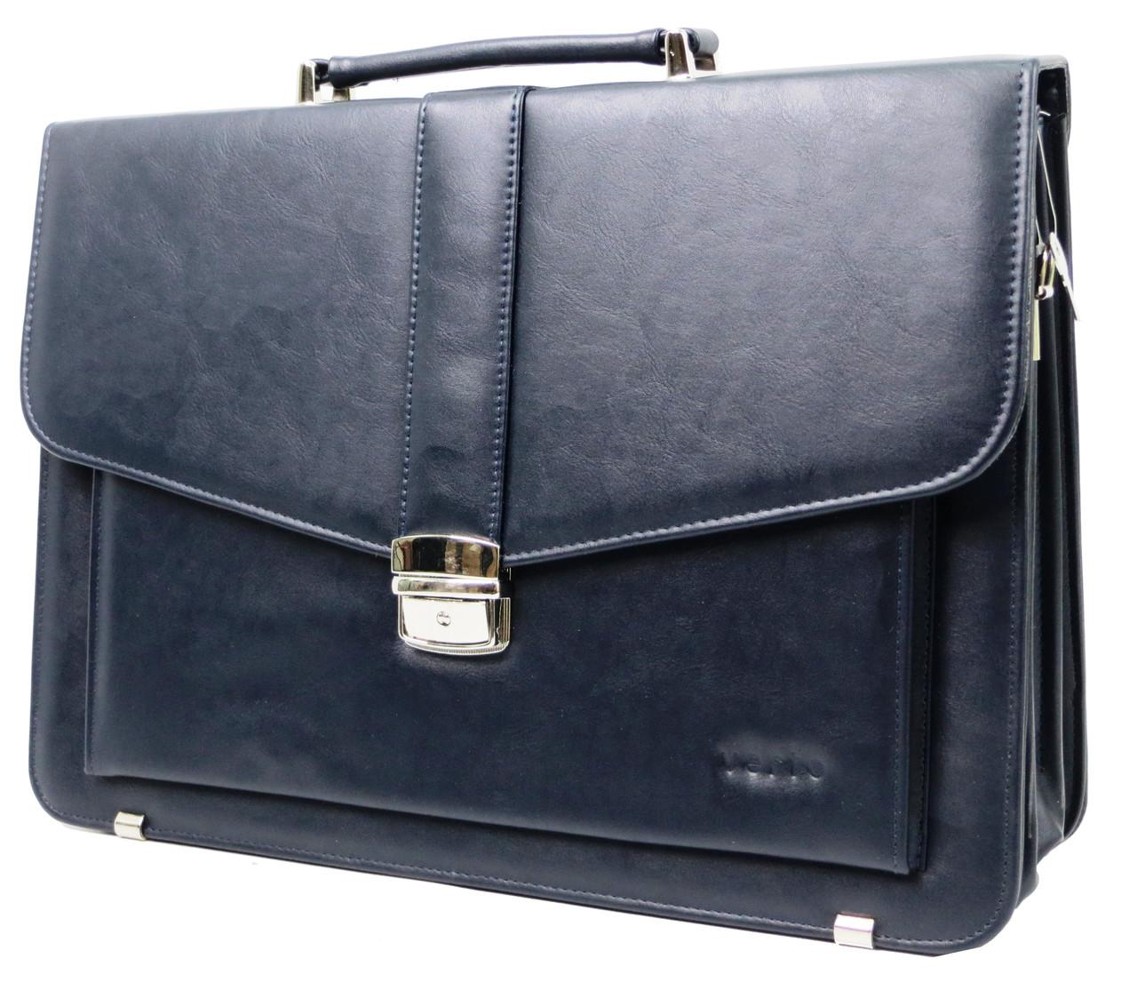 Чоловічий портфель з еко шкіри Verto A13A1 синій