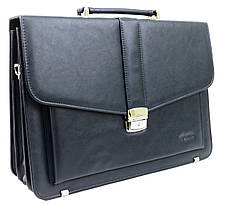 Чоловічий портфель з еко шкіри Verto A13A1 синій, фото 2