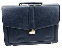 Чоловічий портфель з еко шкіри Verto A13A1 синій, фото 3