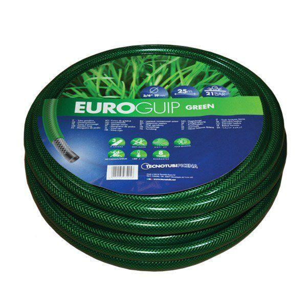 Шланг садовий Tecnotubi Euro Guip Green для поливу діаметр 1/2 дюйма, довжина 25 м (EGG 1/2 25)