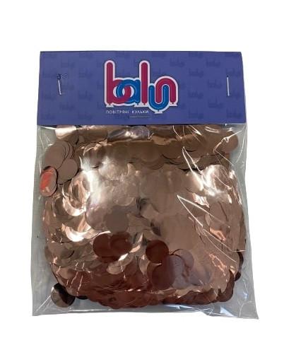 Конфеті рожеве золото (маленькі шматочки) 50 грам
