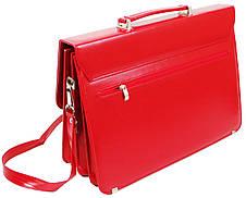 Женский портфель из эко кожи AMO Польша SST10 красный, фото 3