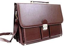 Портфель жіночий з еко шкіри AMO Польща SST10 бордовий, фото 2