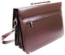 Портфель жіночий з еко шкіри AMO Польща SST10 бордовий, фото 3