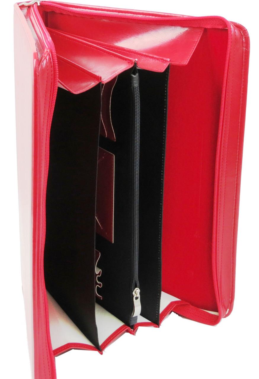 Жіноча ділова папка зі штучної шкіри AMO SSBW03 червоний