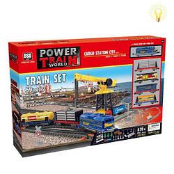 Детская игрушка Железная дорога с подъёмным краном -Maya Toys(2082)