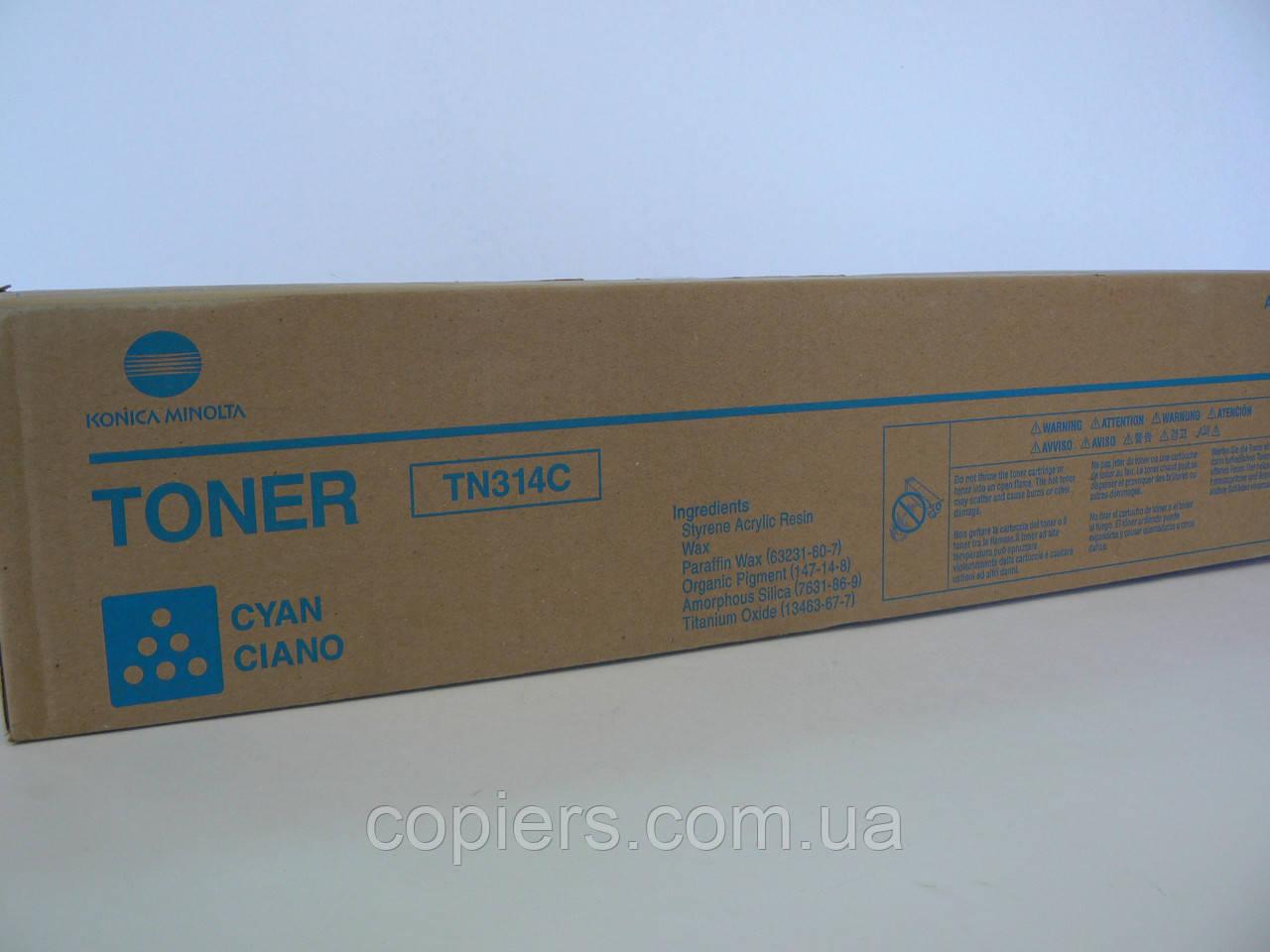 Тонер картридж TN314С Bizhub C353 оригинал, TN-314C