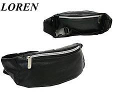 Поясная сумка из кожзаменителя Loren CWB01 black, фото 3