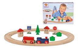 Дерев'яна залізниця, 20 елементів, довжина 135 см, 3, Eichhorn