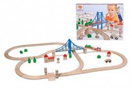Дитяча залізниця з дерева, елементів 55, довжина 5м, 3, Eichhorn