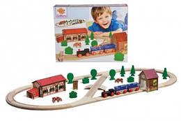 Дерев'яна залізниця дитяча, довжина 360 см, Eichhorn