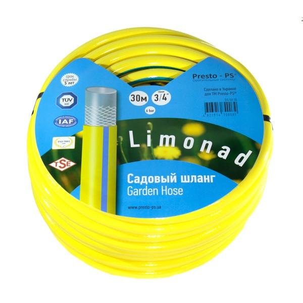 Шланг поливальний Presto-PS садовий Limonad діаметр 3/4 дюйма, довжина 30 м (3/4 G H 30)