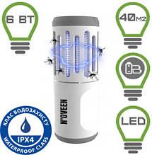 Фонарь светодиодный + уничтожитель насекомых на батарейках Noveen IKN853 LED IP44