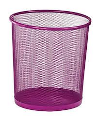 Корзина для бумаг ZiBi круглая металлическая розовая 12 л ZB.3126-10, КОД: 2448152