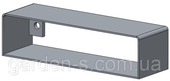 Удлинитель прямоугольного дымохода 100*200 Буржуй, фото 2
