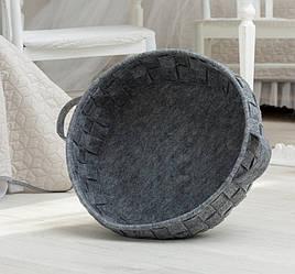 Корзина-лежак для животных Digitalwool плетеная Серый DW-91-06, КОД: 1103739
