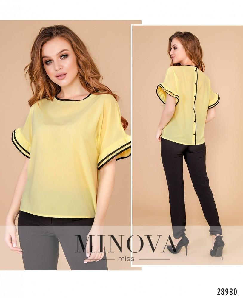 Блуза №1054-желтый 42-44;46-48;50-52