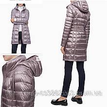 Длинный женский пуховик CALVIN Klein Packable down hooded long puffer coat