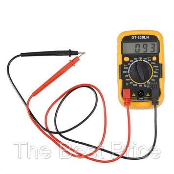 Мультиметр DT-830 LN з підсвічуванням і звуком ABaTap до 750 В Помаранчевий
