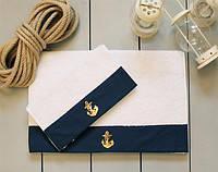 Полотенце махровое Barine - Anchor navy синее 50*90