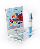 Скреч-карта Европы Travel Map Silver (англ. язык)