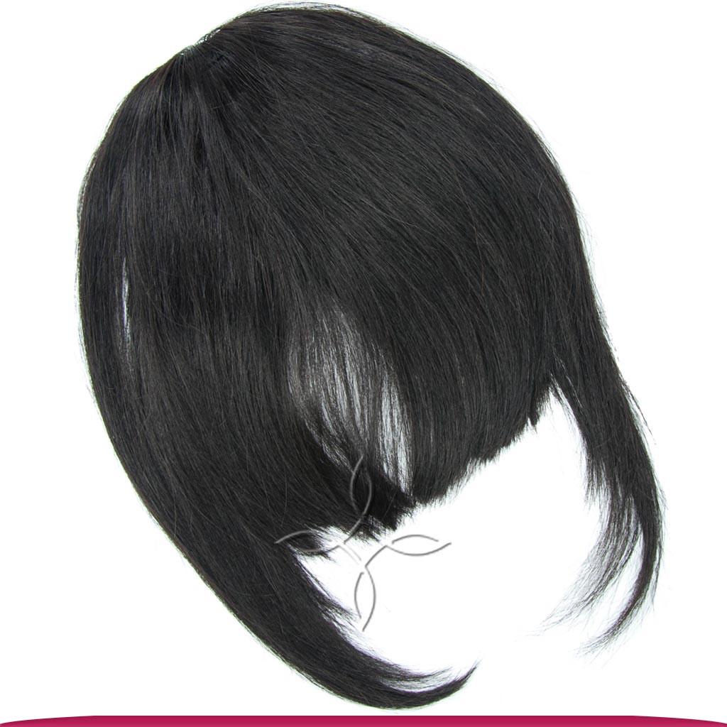 Накладная Челка из Натуральных Волос, Черный №1В