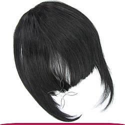 Накладна Чілка з Натурального Волосся, Чорний №1B