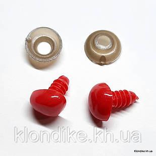 Носики для Игрушек, Высота: 11 мм, Ширина: 14 мм, Цвет: Красный (5 шт/упаковка)