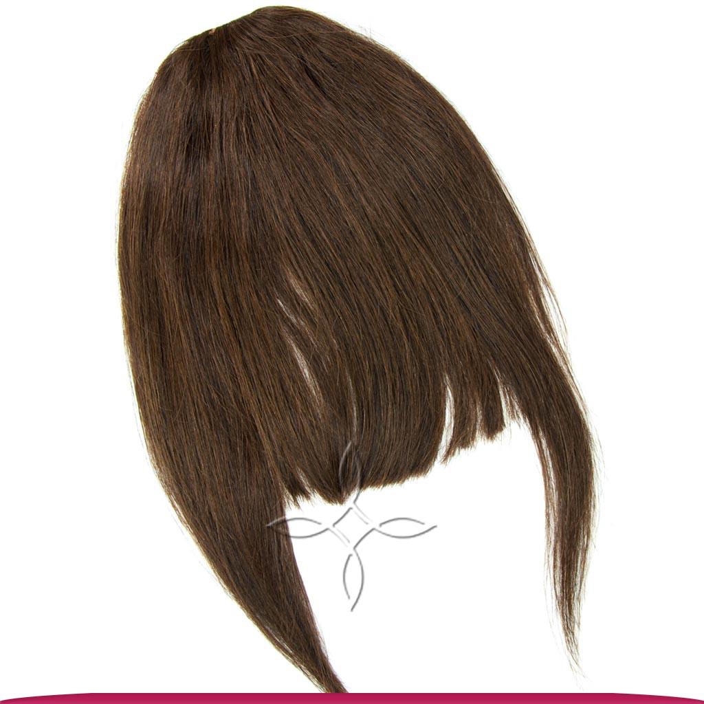 Накладная Челка из Натуральных Волос, Шоколад №02