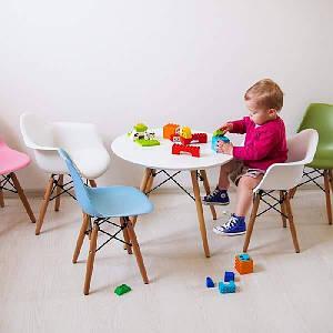 Детский стол KIDS LUI D-600 белый на буковых ножках